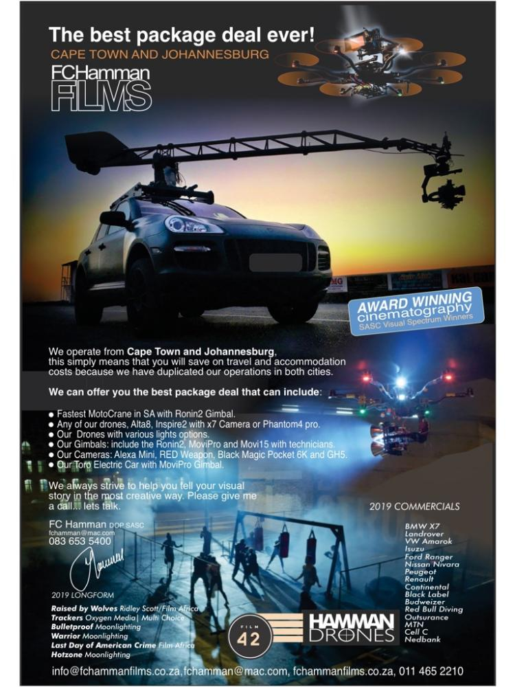 Welcome FC Hamman!: FC Hamman Films Drone Aerial Filming (CAA Fully Licensed), Fastest MotoCrane in South Africa, Gimbals and Camera Equipment. Johannesburg http://bit.ly/34uyFLXpic.twitter.com/m8tAHgjuvn