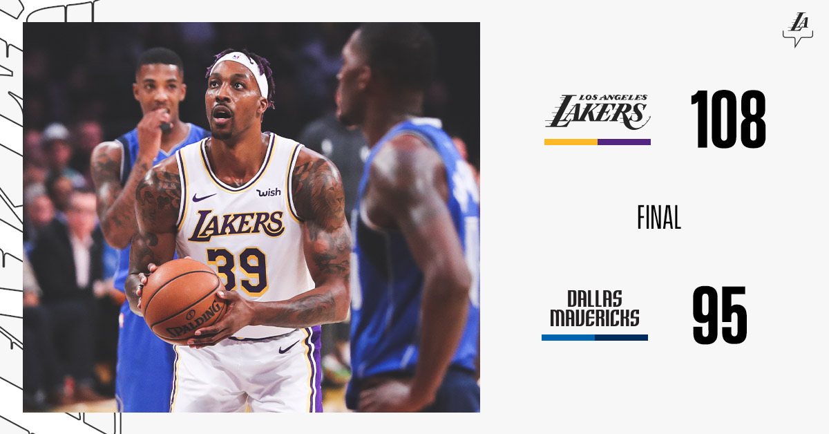 Lakers Halt Mavs Offense For Final Win Of 2019
