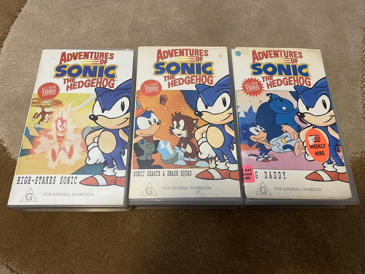 Ryan Langley On Twitter I M Now Actually Intrigued How Many Adventures Of Sonic The Hedgehog Vhs Releases Came Out In Australia This Was The Initial 7 Vhs Run Based On The