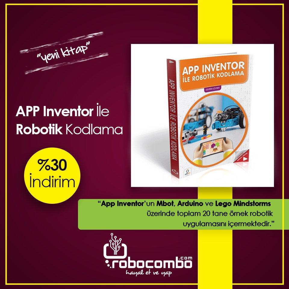"""SıfırBir Yayınevi """"APP Inventor İle Robotik Kodlama""""  Kitabı http://Robocombo.com'da!   http://www.robocombo.com/app-inventor-ile-robotik-kodlama…  #mekatronik #maker #mekatronikmuhendisligi #arduino #robocombocom #hayaletveyap #robocombo #stem #arduinoset #3dprinter  #robot #robotics #robotik #raspberrypipic.twitter.com/PJIzF0FGoG"""