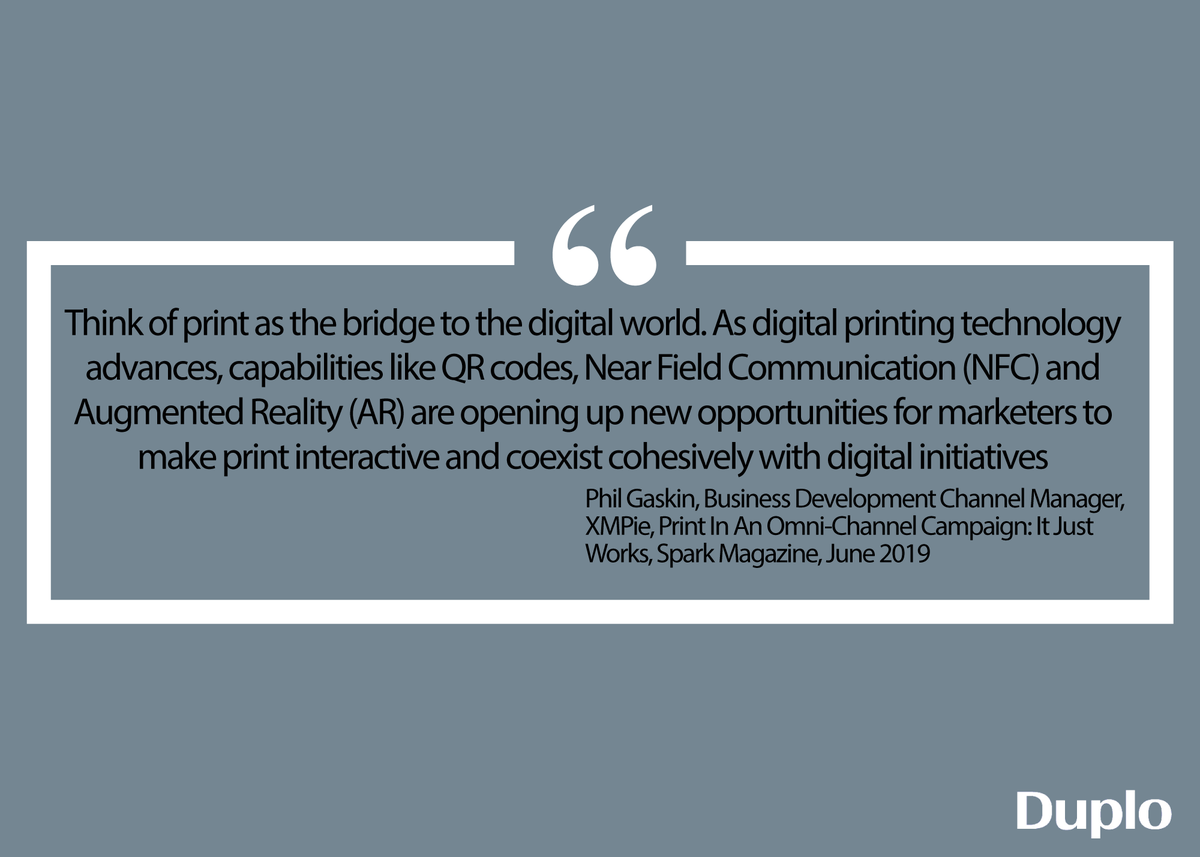 """Discover how @XMPie can take your  """"joined up"""" marketing campaigns to a different level this year. #Print #QR  #NFC #AugmentedReality. With more new innovations on the way - it's probably time to talk to us about how this can be a game changer for you and your customers."""