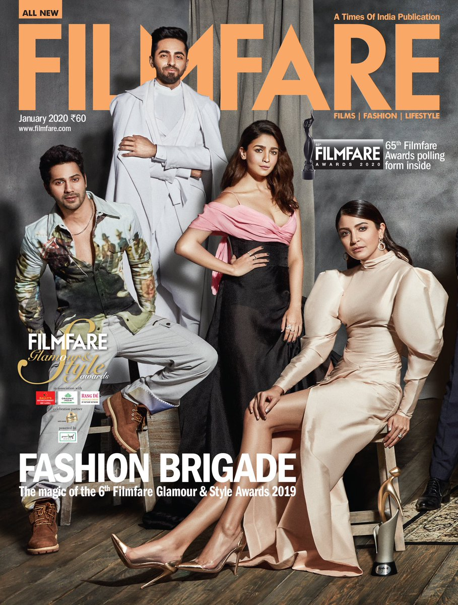 Here's presenting the fabulous winners of the Filmfare #GlamourAndStyleAwards 2019 on our first cover of 2020.