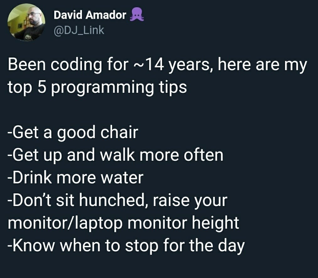 A few tips for our future programmers. Would you like to become a world-class programmer? Apply today: https://bit.ly/2quu267  #it #information #technology #programmer #code #coding #tips #future #worldclass #study #uni #BelgiumCampus #iTversity #itsthewaywerewiredpic.twitter.com/sFCaqKRpB6