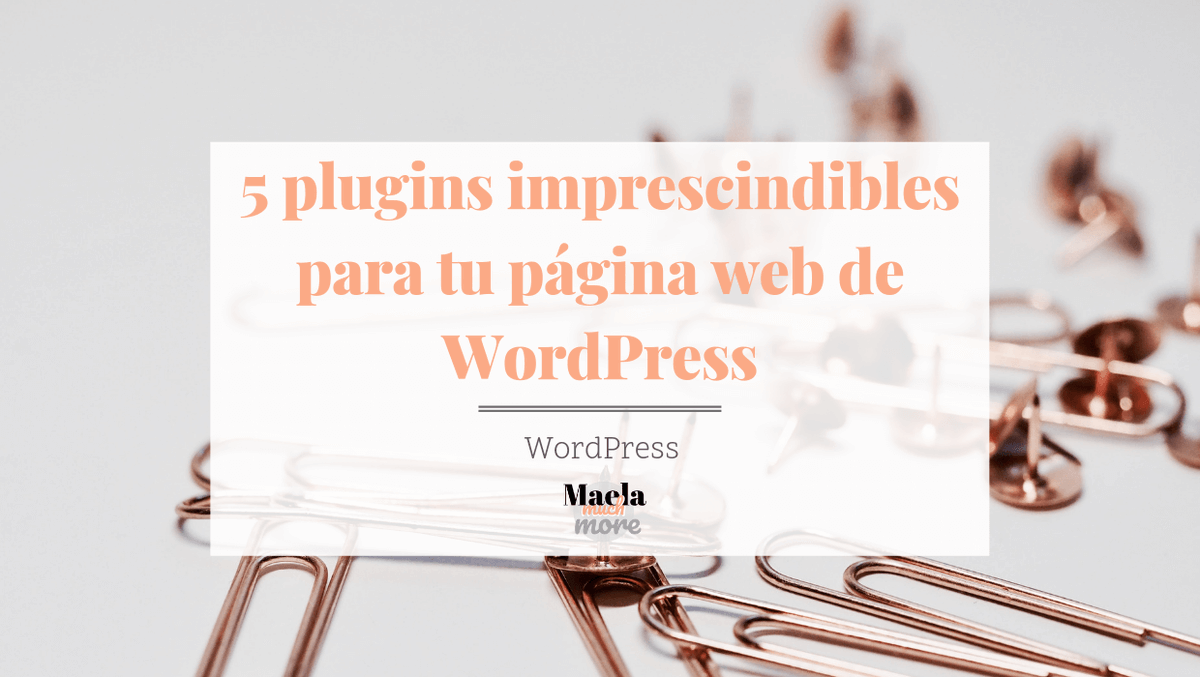 5 plugins imprescindibles para tu página web de #WordPress  💻  🔗 https://t.co/5GdyJ3m8Vl vía @maela_muchmore https://t.co/kMDWUeqrjd