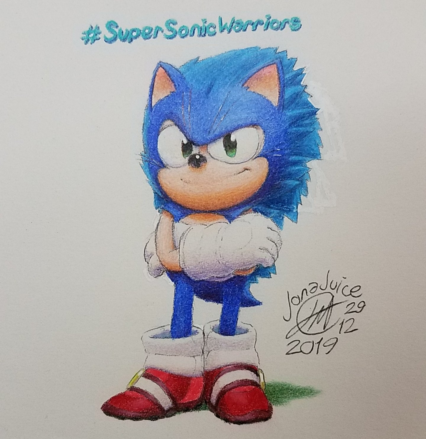 Super Sonic Warriors Tm On Twitter Little Colored Sketch Of My Sonicneedlemouse I Drew For Fun Love How It Came Out Simplified Look As In Less Fur Detail