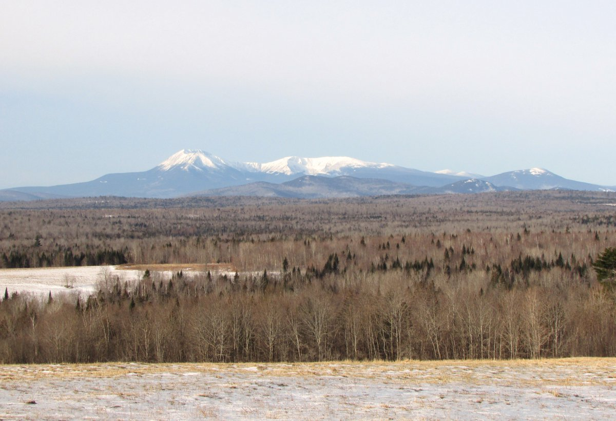 #Katahdin before the storm #PattenME #Patten #ME #AshHill #winter #beauty #nature