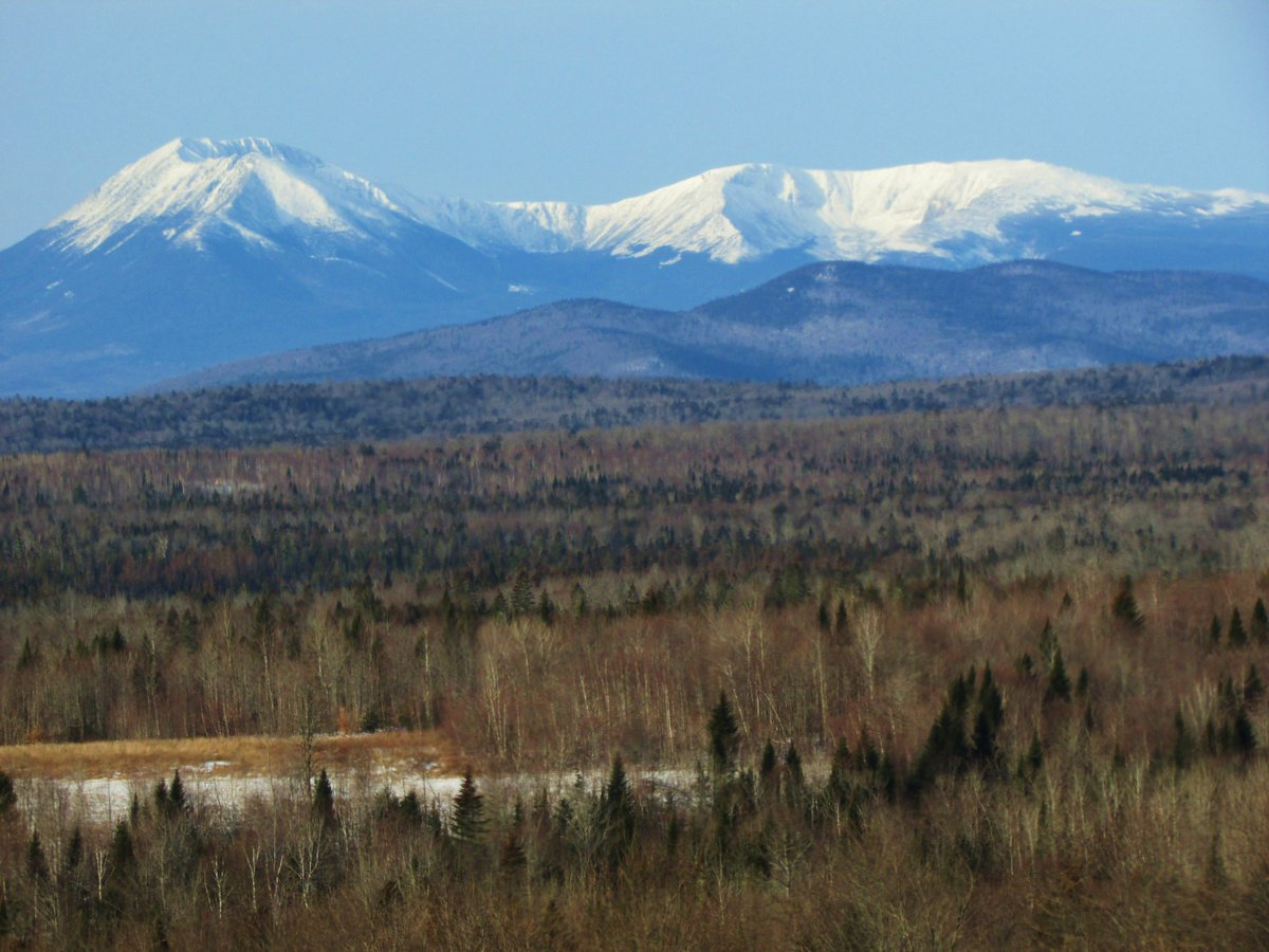 12/30/19 9:30am - #Katahdin before the storm #PattenME #Patten #ME #AshHill #winter #beauty #nature #MountKatahdin