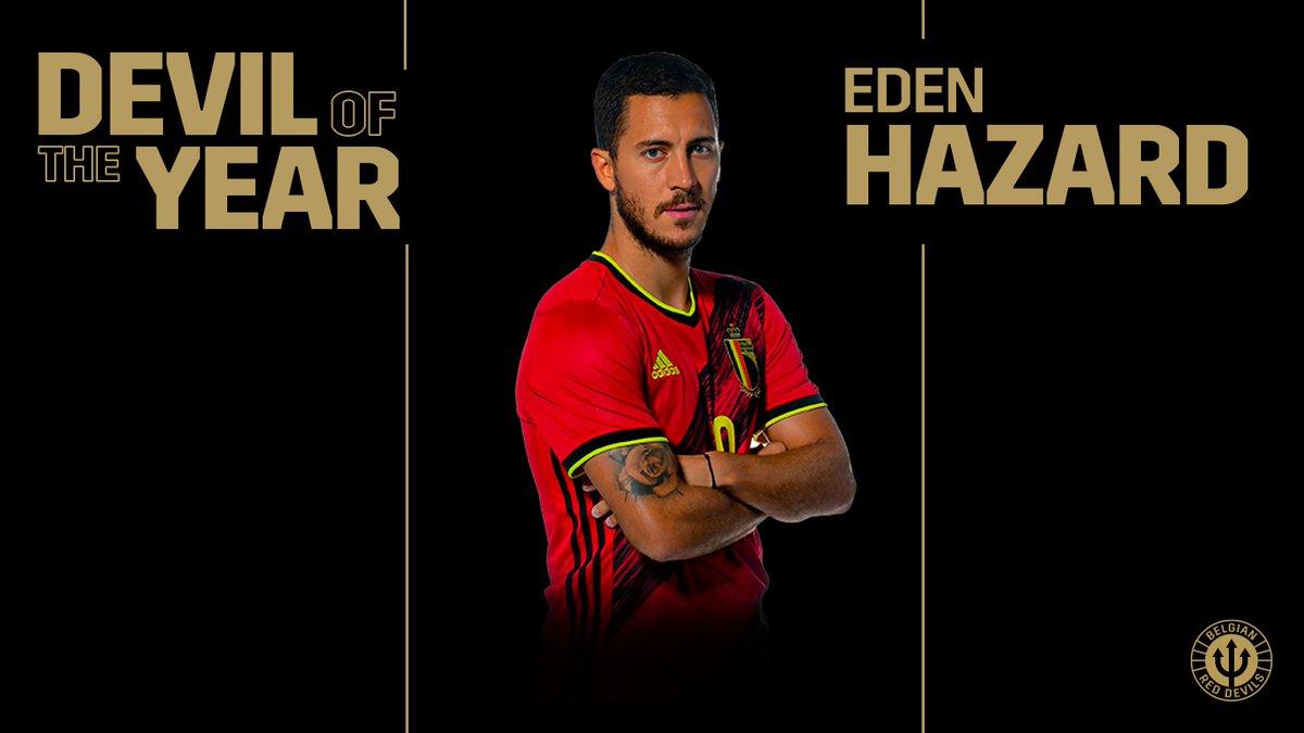 ✅ 8 games ✅ 5 goals ✅ 7 assists  @hazardeden10 is your Devil of the Year! 😈🇧🇪