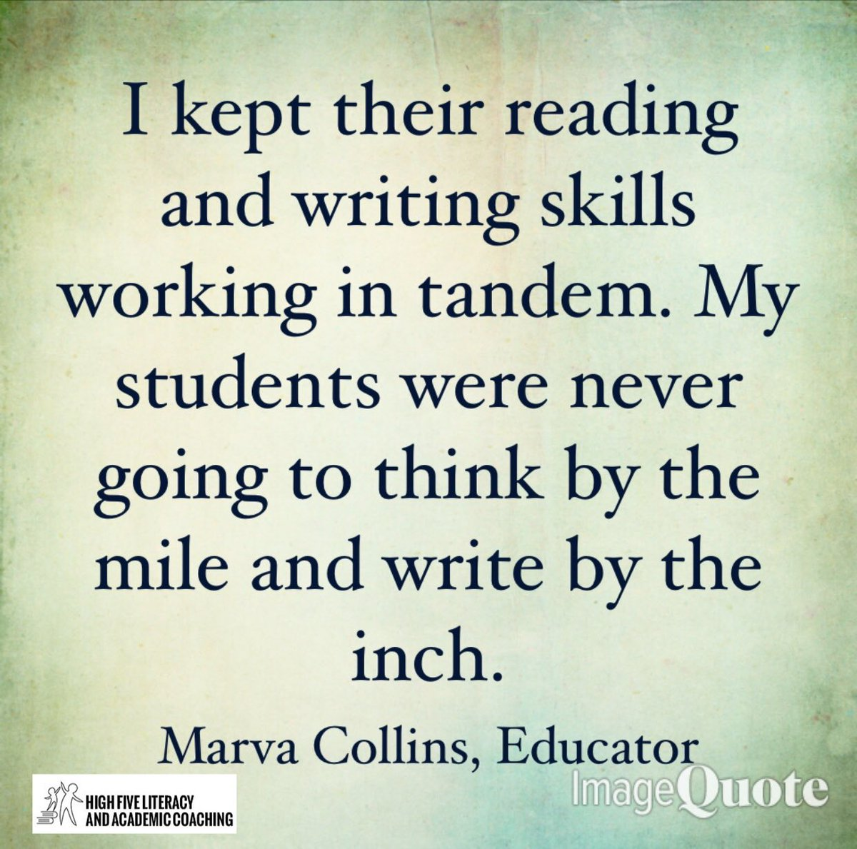 I'm obsessed with Marva Collins! Brilliant‼️ 👍
