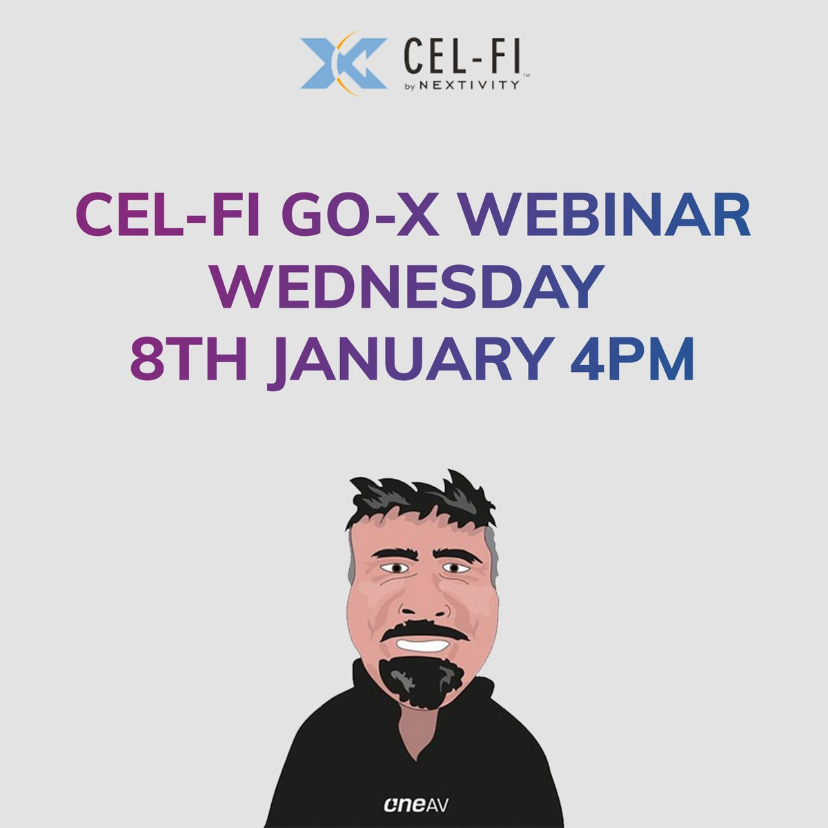 We're hosting part three of our Cel-Fi by Nextivity webinar series on the 8th of January at 4 pm! Registration link below!  https://oneav.webinarninja.com/live-webinars/177446/register?in_tok=b57d01a7-055f-440b-b580-fab19a2d8422 …  #customintegration #custominstall #homeautomation #distribution #technology #audiovisual #hdbaset #hdmi #oneav #video #hdbtpic.twitter.com/5J1bYvVTa1