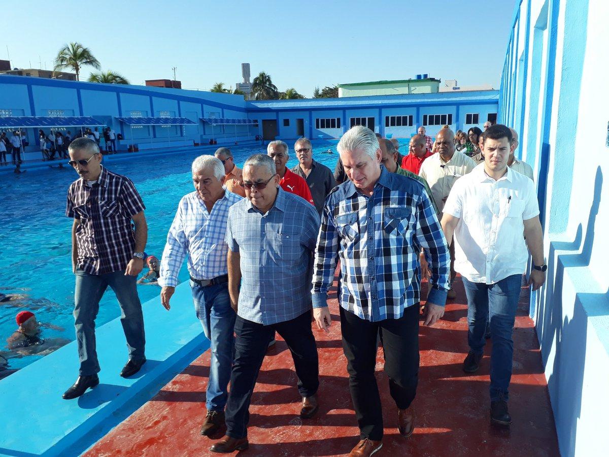 #30Diciembre Inicia el Presidente Díaz-Canel recorrido por obras de la capital en el Complejo Recreativo Marcelo Salado, enclavado en el municipio #Playa. #SomosCuba #VamosPorMás #Cuba🇨🇺