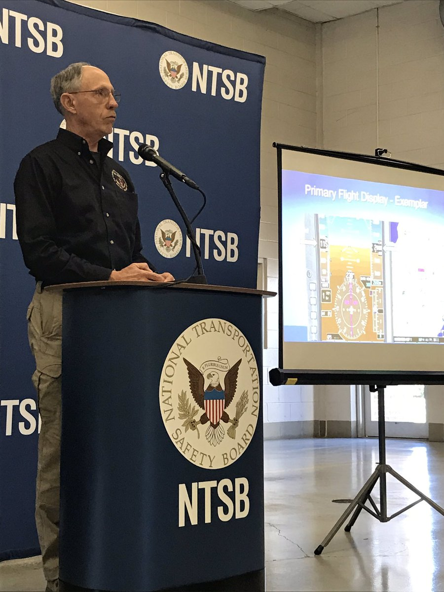.@NTSB_Newsroom says the airplane was in one piece when it hit the ground. It did not come apart in mid-air.