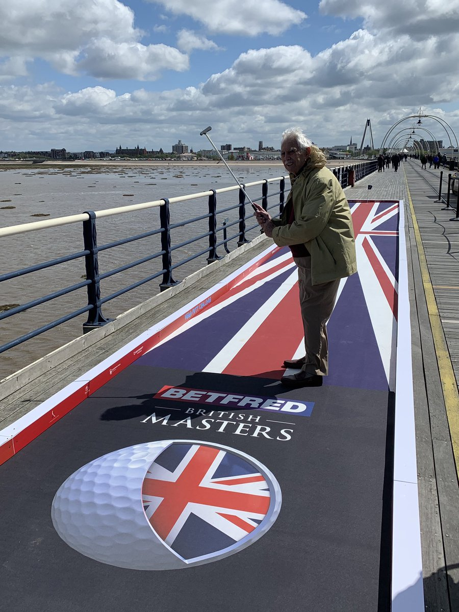 In 2019 we turned Southport pier into the Mega Putt Challenge with @british_masters! We even saw 91 year old Ted get a hole in one! ⛳️ #BetfredBritishMasters #BritishMasters https://t.co/ggFy5FcnpN