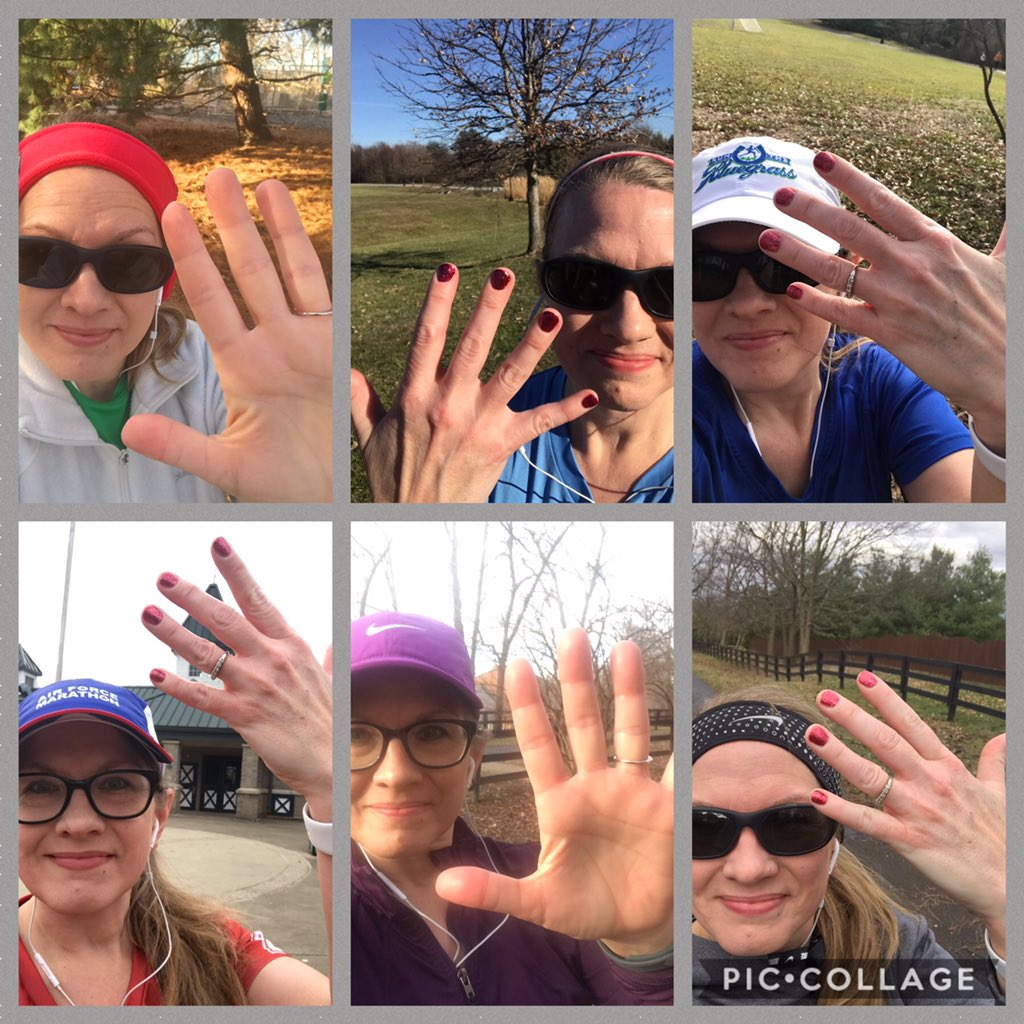 When we got out of school for winter break 10 days ago, I had 30 miles to go to meet my yearly running mileage goal. I resolved to do it by running 5 miles 6 xs. I took pictures each time for fun-crazy weather obvious. #teacherrunner #goals #keeprunning #choosejoy<br>http://pic.twitter.com/yyg7X6ZZDY