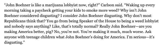 @TuckerCarlson lays into John Boehner in this let-er-rip interview: breitbart.com/politics/2019/…