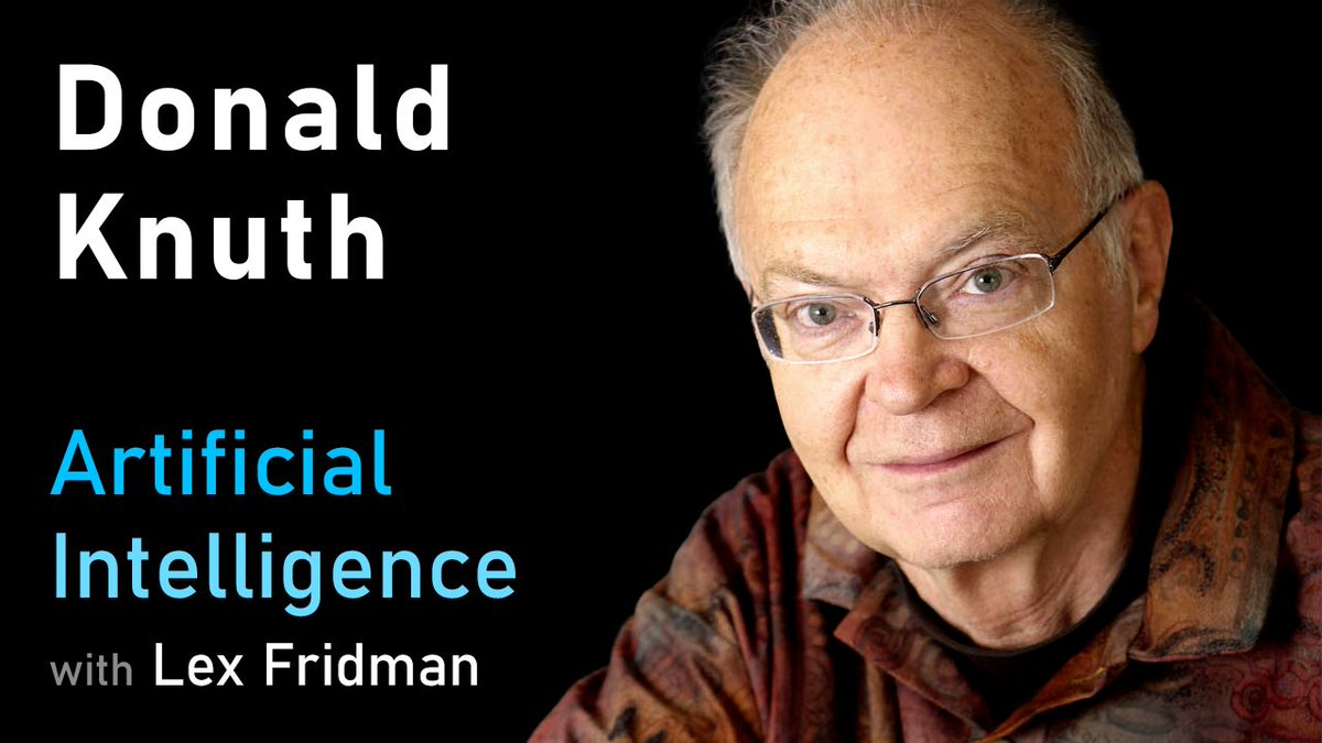 Heres my conversation with Donald Knuth, the legendary computer scientist & mathematician. I can imagine no better guest to end the year with than Don, one of the kindest, funniest, and most brilliant people I have ever met. It was an honor beyond words: youtube.com/watch?v=2BdBfs…
