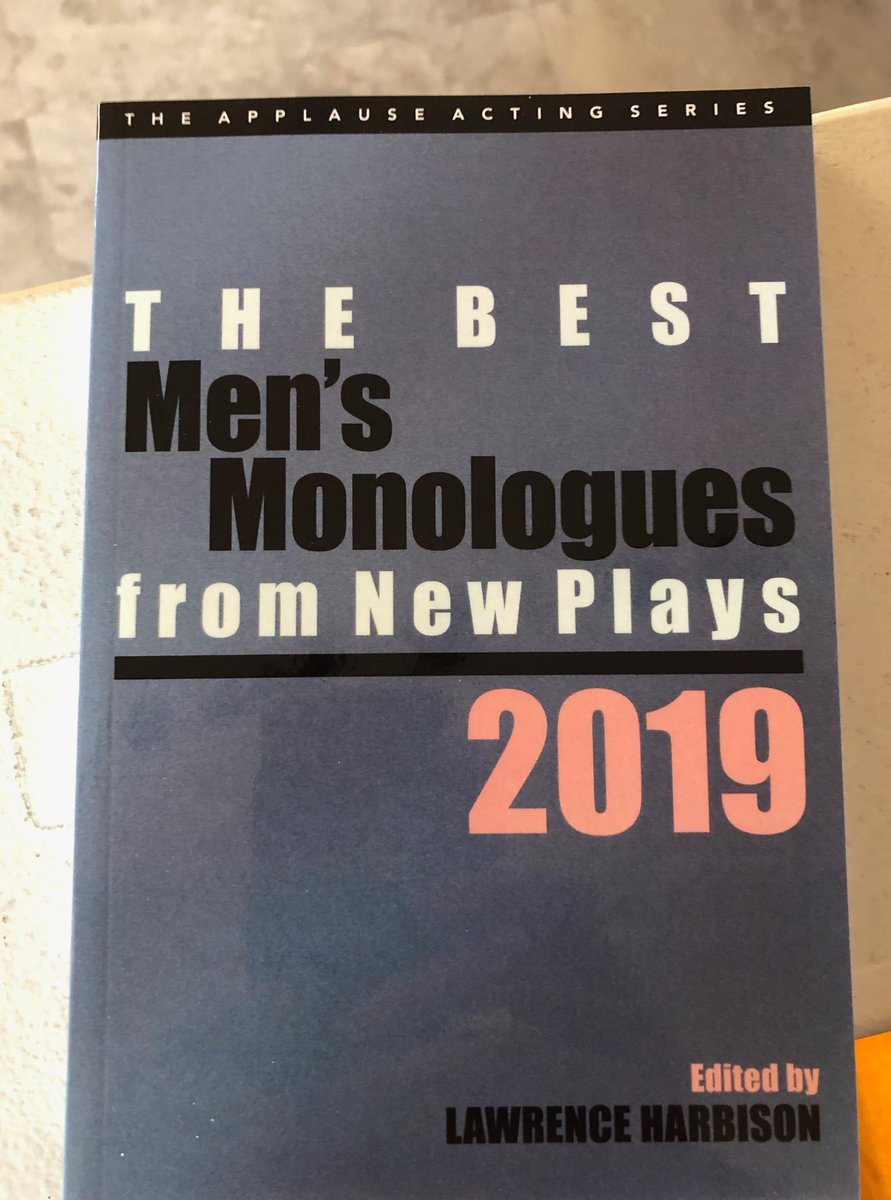 I didn't write the AFTER mono included in this Best of 2019 edition... the talented Michael McKeever did! I was just the lucky actor that got to perform it every night in our Off Bway run at 59E59. Congrats Michael! #michaelmckeever #playwright #theatre #offbroadway #actorslifepic.twitter.com/33M2qtRJ9X