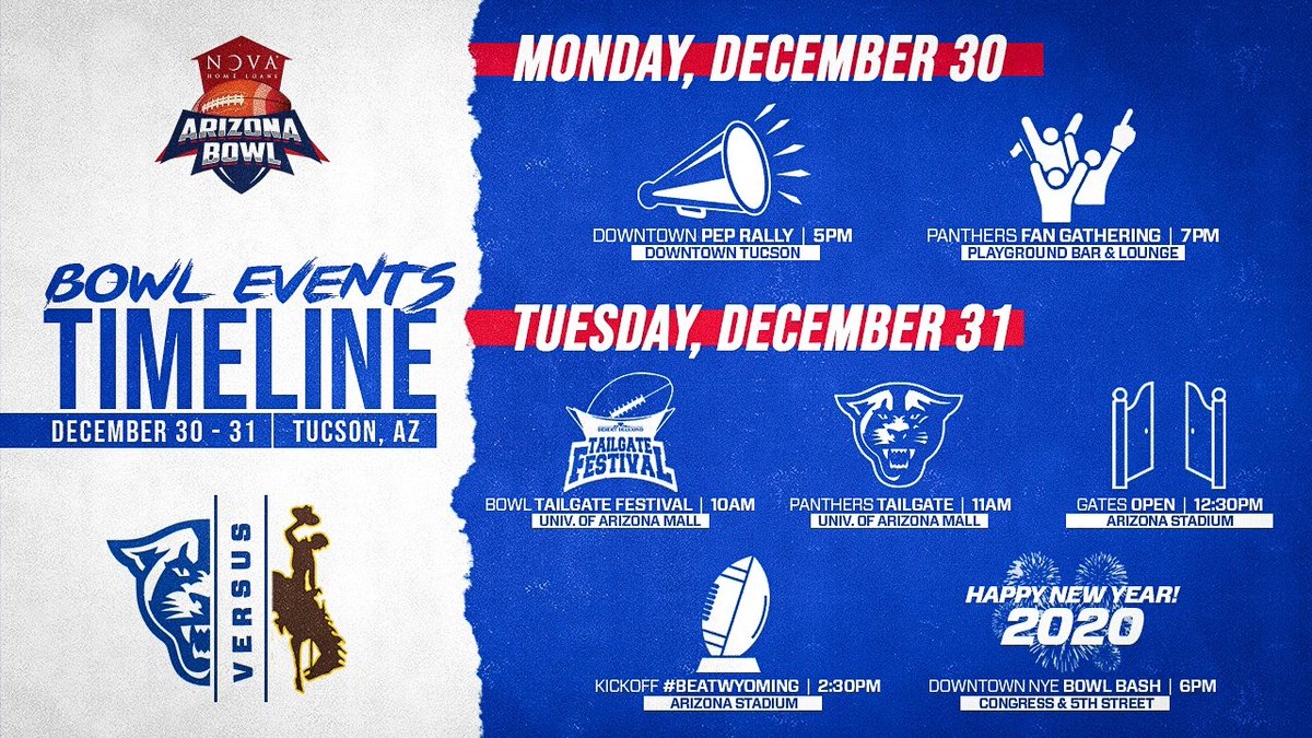 The fan festivities begin tonight in Tucson.   (All times local)  #LetEmKnow <br>http://pic.twitter.com/eDZTmE0G2T