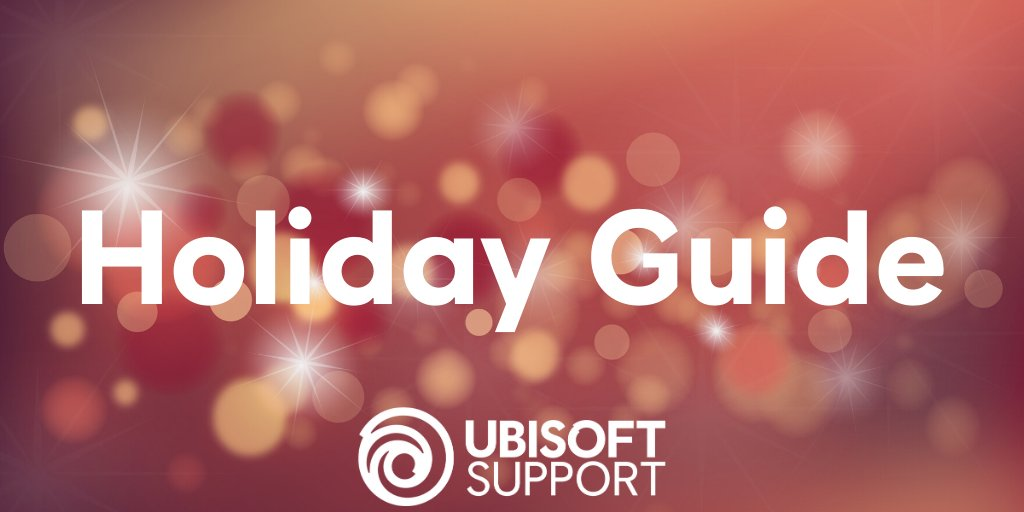 Array - ubisoft support on twitter    our 2019 holiday support guide      rh   twitter com