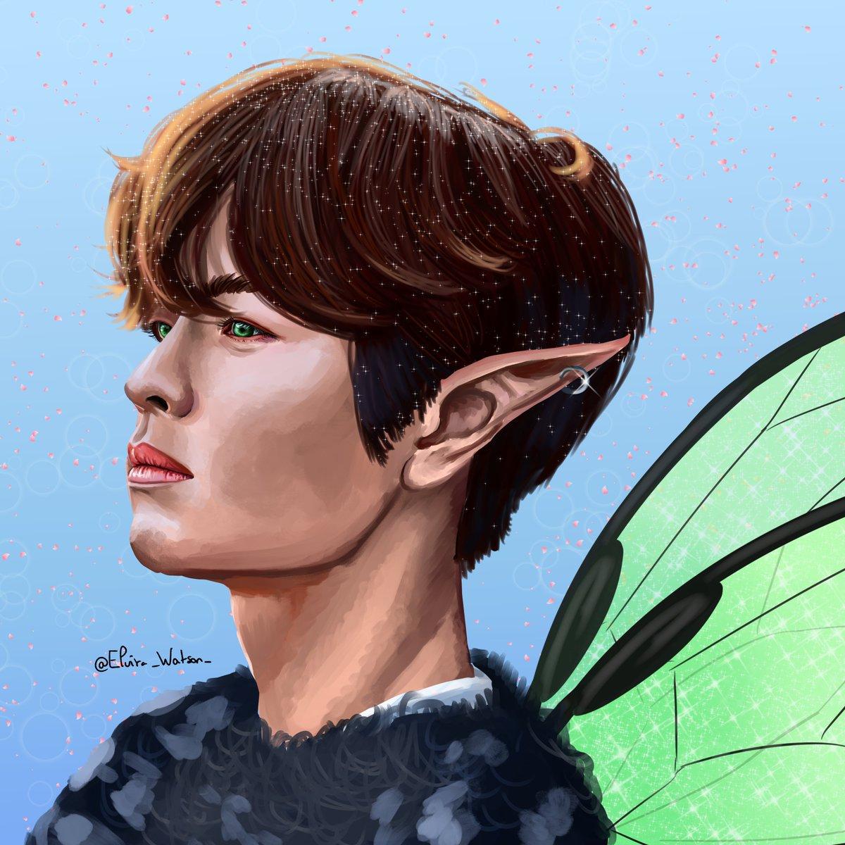 @Stray_Kids Fairy Seungmin - Levanter- Green wings for Fairy Seungmin uwu   #straykids #straykids_levanter #Seungmin #kimseungmin #Seungminstraykids #straykidfanart  #CLIPSTUDIO #Seungminfanart