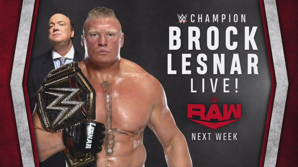 WWE Announces Brock Lesnar's Return And Two Big Title Matches For The First RAW Of 2020