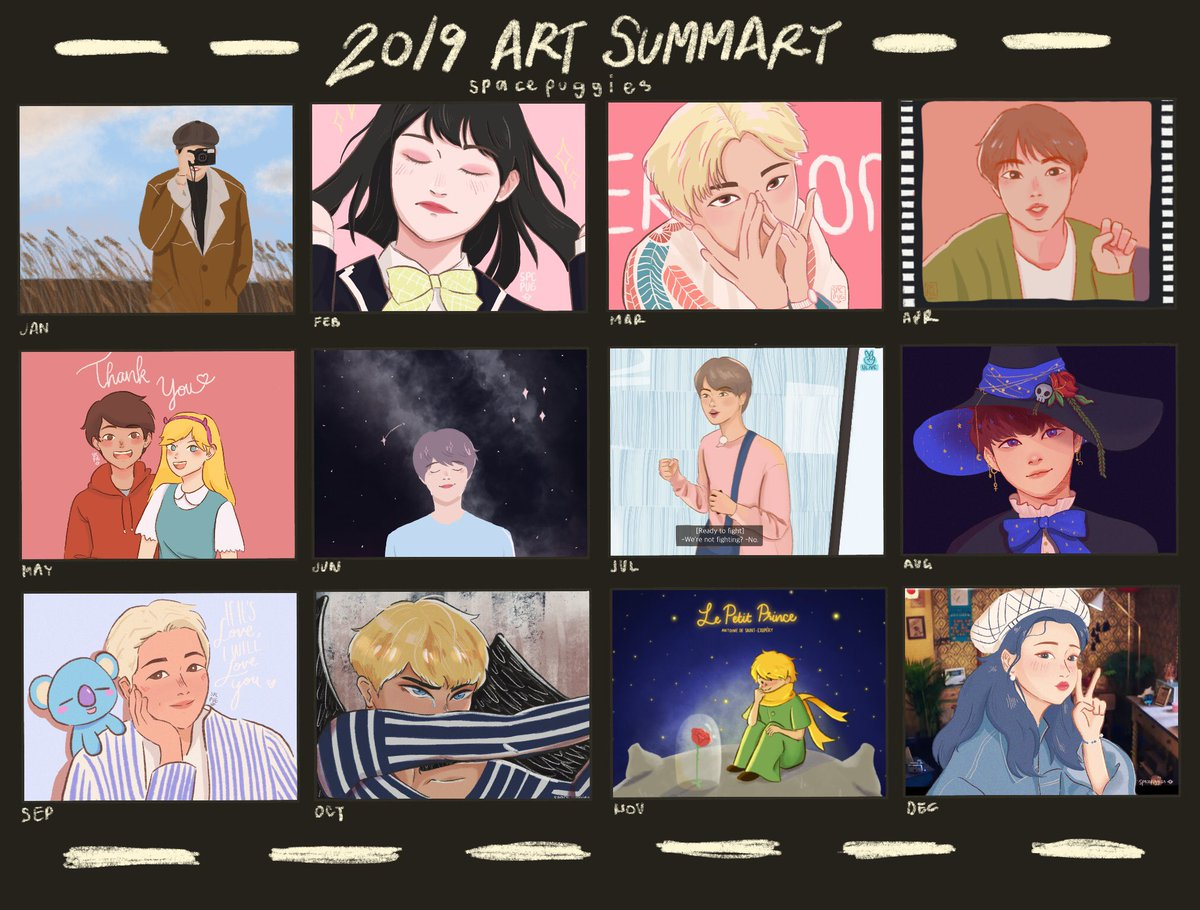 so, art summary. this is actually the first time i've ever posted enough to actually get to do this... huzzah!  #2019ArtistWrapped  <br>http://pic.twitter.com/p4KJHvQH9s