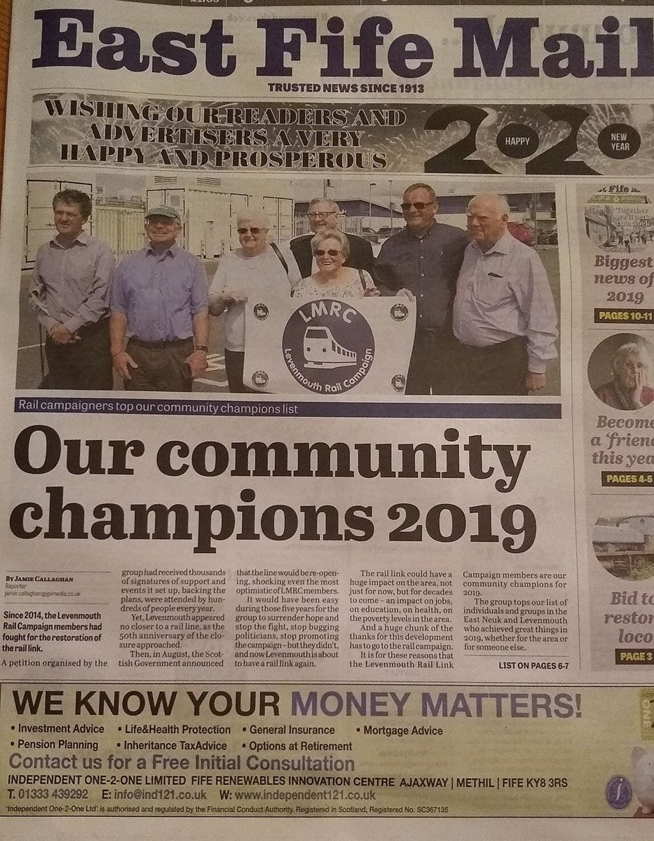 We very much appreciate the support from @eastfifemail over the years of our campaign