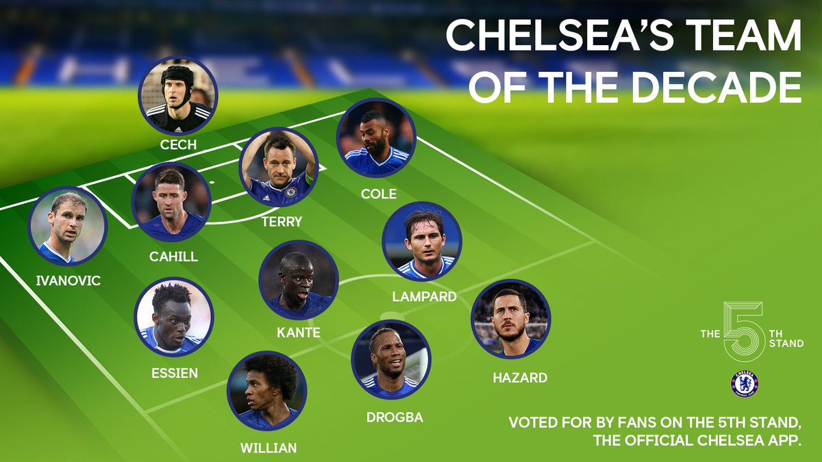 Chelsea Fc On Twitter Introducing Your Chelsea Team Of The Decade As Voted For By Fans On The 5th Stand App