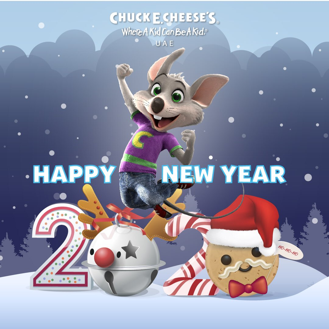 Have a Chuck. E New Year 2020! • We at Chuck E. Cheese UAE wish all our fans and their families a Very Happy New Year . • May this year make all your hopes and dreams come true. #newyear2020 #chuckecheeseuae #dubai #expo2020 #birthdays #arcadegames #pizza https://t.co/tsxQ9e7Rah