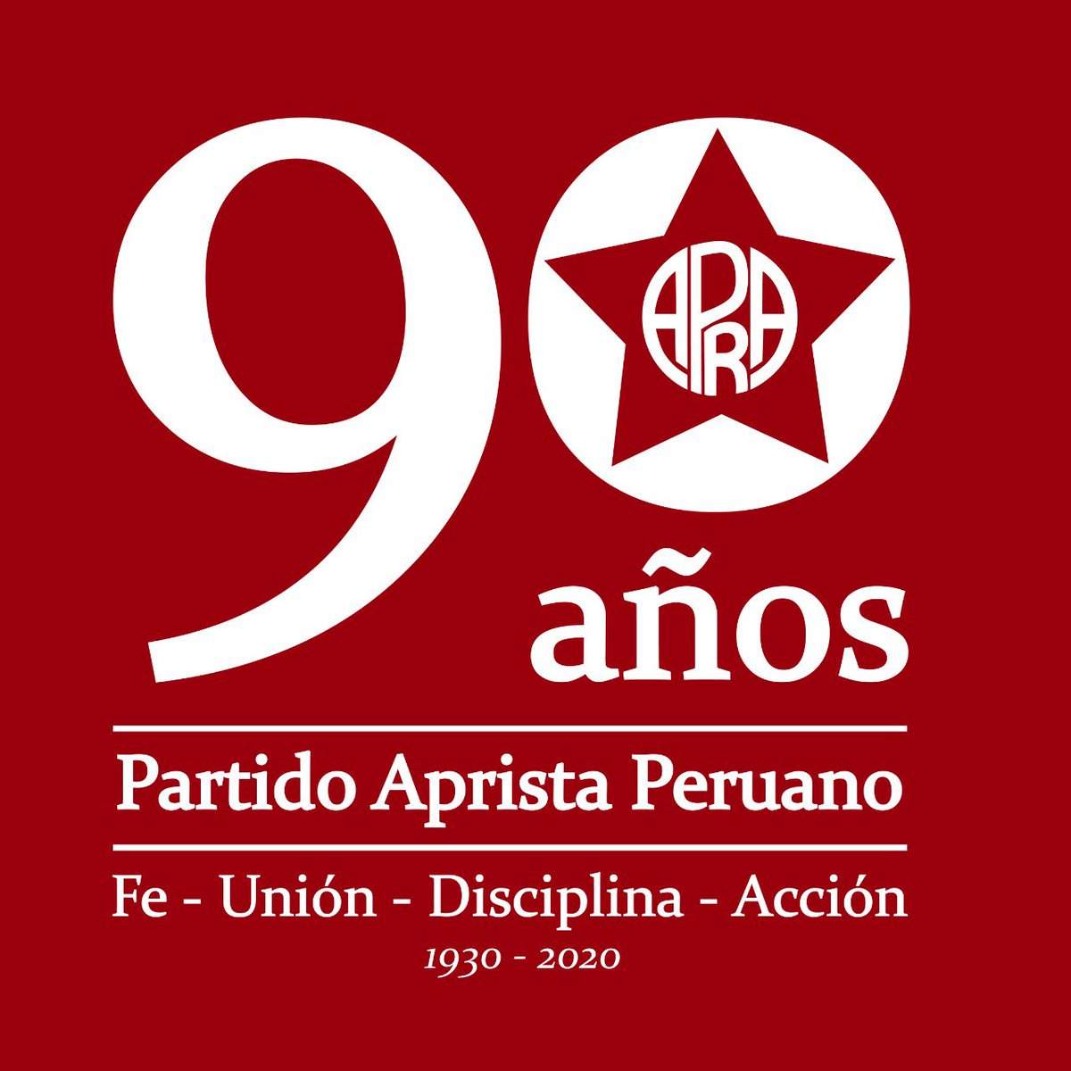 [#90ANIVERSARIO]  2020 es el año en que el #PartidoApristaPeruano,cumple #90años y el @APRA_Oficial continental cumplirá 96).Hagamos eco de los 90 años de nuestro partido. La mejor forma de responder a nuestros adversarios es con el orgullo de la historia y mística del partido pic.twitter.com/lMEg2whWeN
