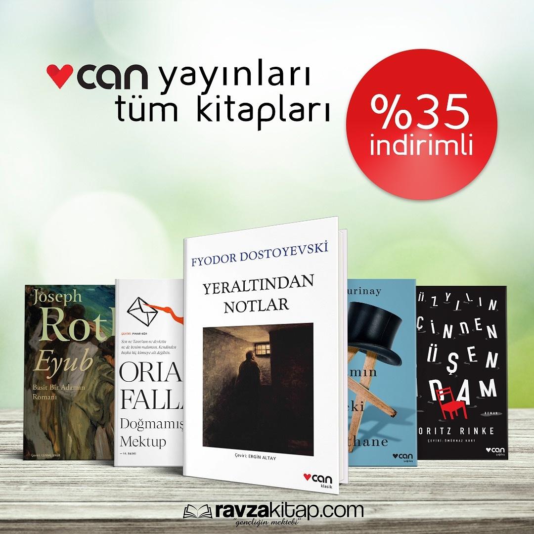 Yayınevlerine özel kampanyalar devam ediyor.👏 Can yayınları tüm kitapları%35 indirimle  da ! 👉 #ravzakampanya #ravzayayınları #ravzakitap #kitap #yayınevi #yazar #canyayınları