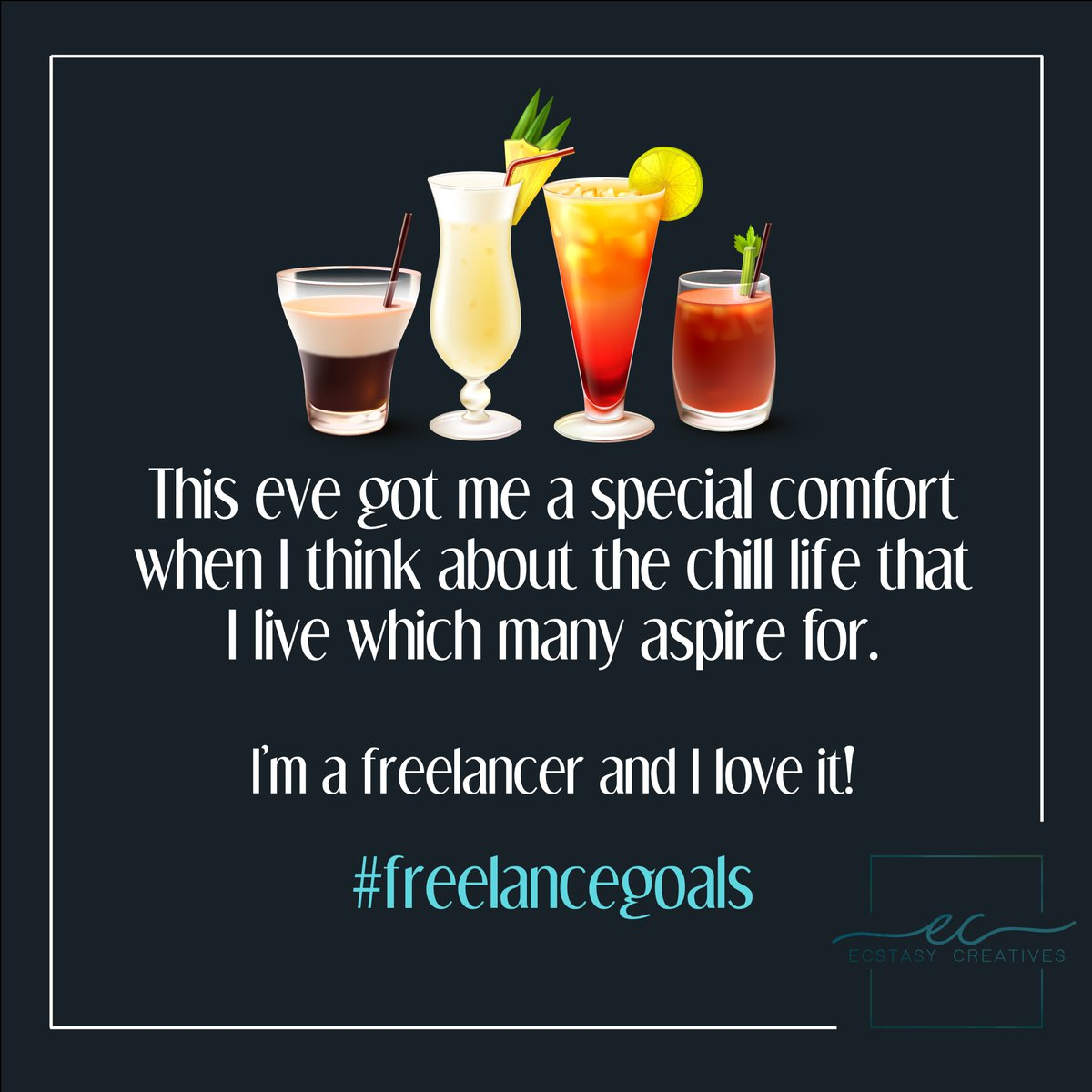 This new year, chill your life working with a happy-go freelance community! #freelancegoals #newyearseve #newyear #drinks #chill #newyearchallenge  #chilllife #newyear2020 #resolution #cold #celebrate #party #holidays #snow #trending #love #winter #community #ecstasycreativespic.twitter.com/HeYZ0YhGPO