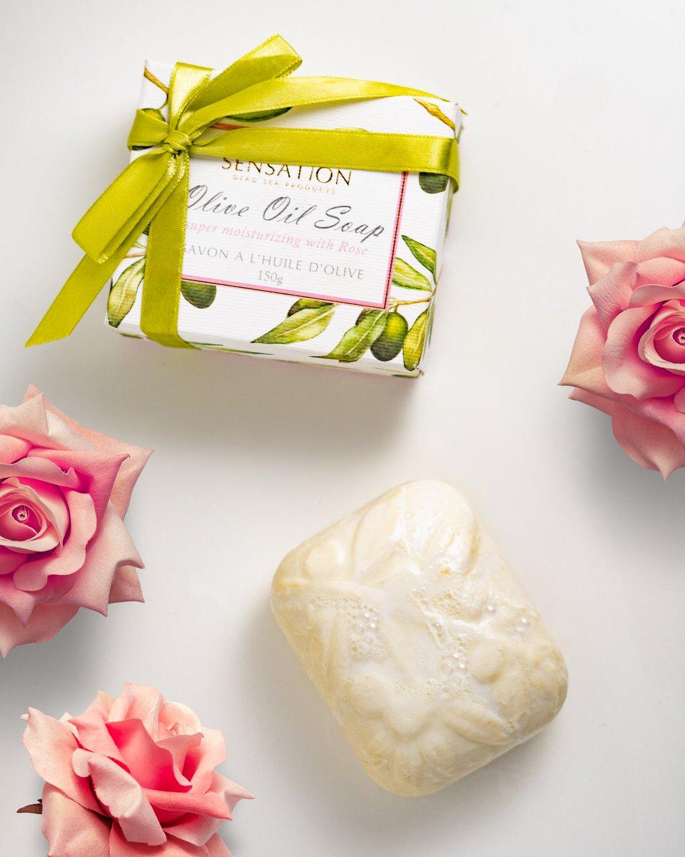 Super moisturizing olive oil soap with rose essential oil.  #sensationdeadsea #jordan #beauty #deadsea #deadseajordan #deadseasalt #deadseaspa #deadseaproducts #oliveoilsoap #organicskincare #oliveoil #deadseaminerals #deadseasalts #soaps #deadseabeauty #beautyblogger #beautygurupic.twitter.com/LN9uBlLt3u