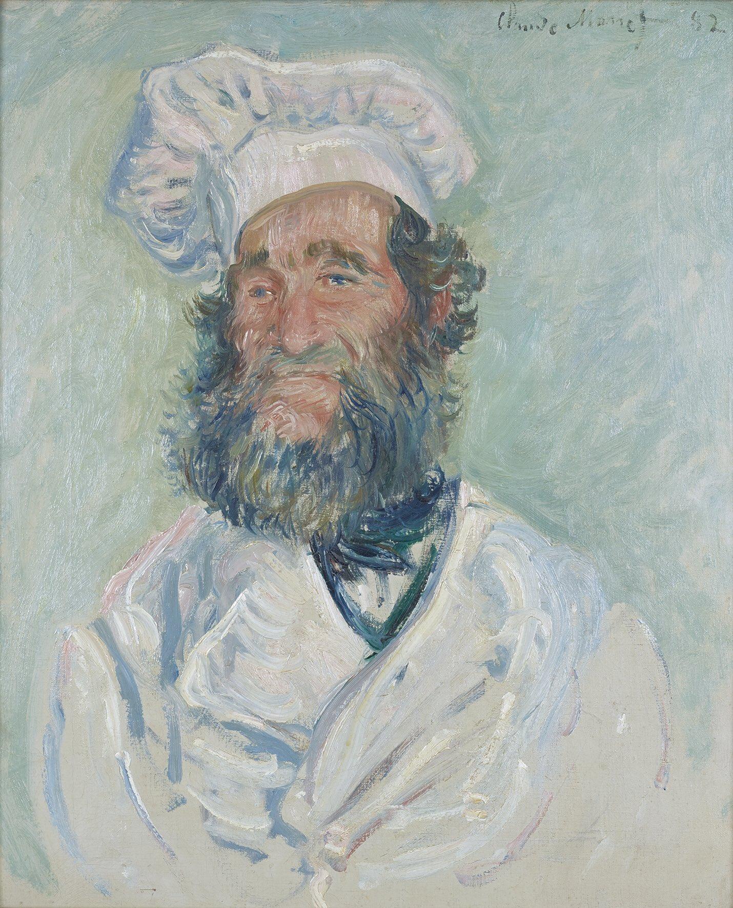 """Historia del Arte on Twitter: """"""""El Chef"""" es un óleo sobre lienzo realizado  por Claude Monet en 1882. Es un retrato del Chef Père Paul.… """""""