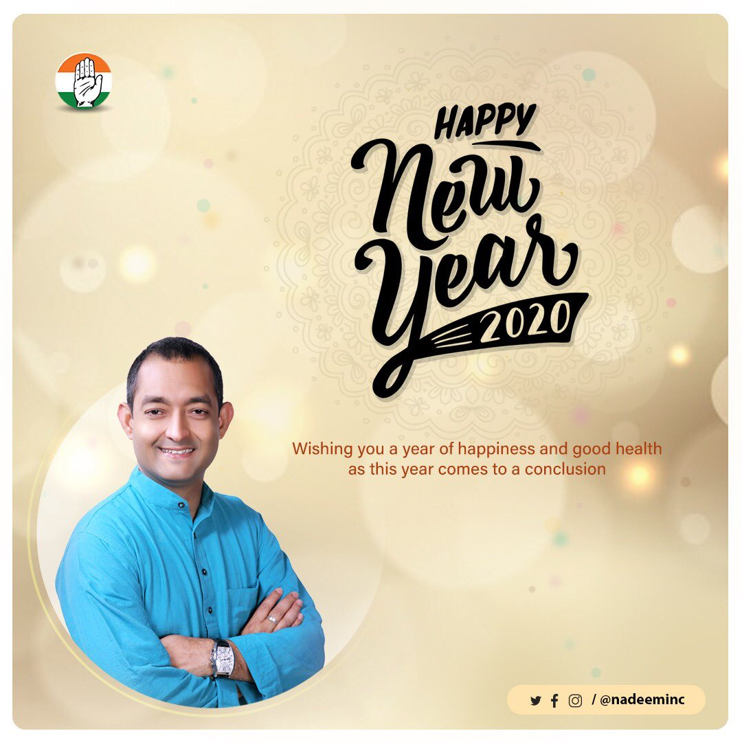 RT @RahulGandhi: Happy New Year to each and every one of you. Have a wonderful year!   #Welcome2020
