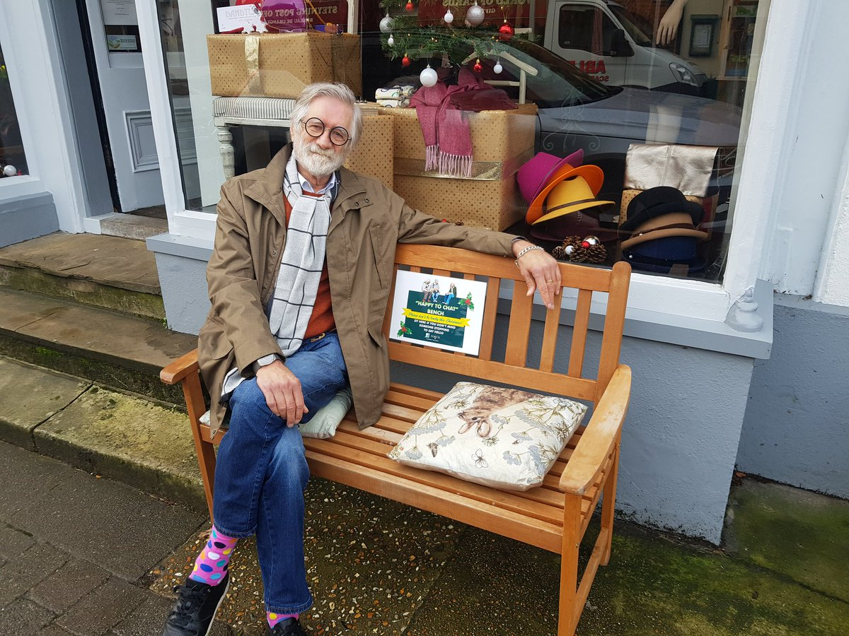 Launching our happy to chat bench in Steyning. #steyningforum