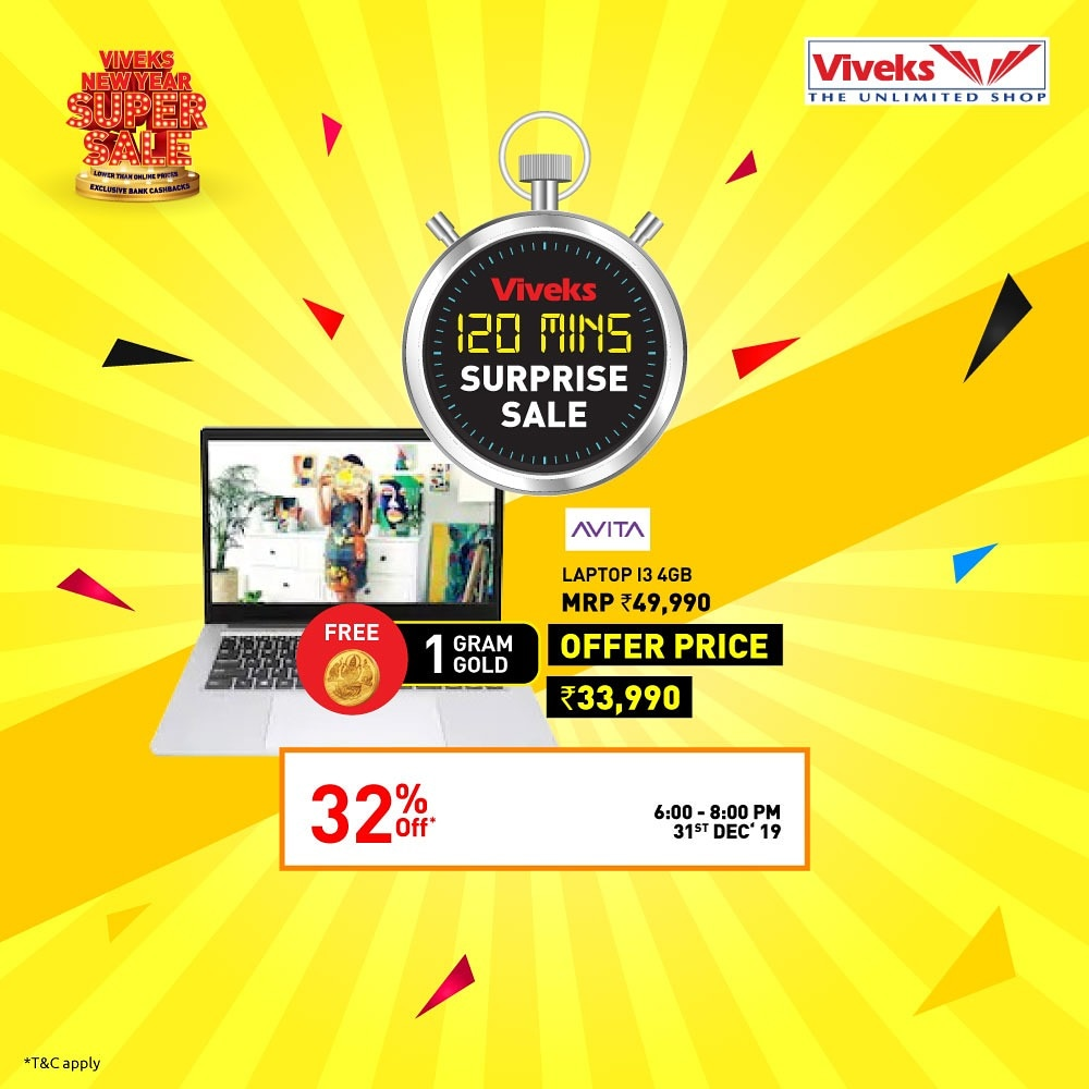I am planning to buy some  electronics from the Viveks rush hour sale tomorrow morning from 8:01am - 9:01am to celebrate it. #nammaviveks #viveksnewyearsupersale #viveksrushhoursale  #viveksbetheinfluencer #vivekstheunlimitedshop #120minSale  #ViveksSurpriseSale @viveksindiapic.twitter.com/bmwm8h6It6