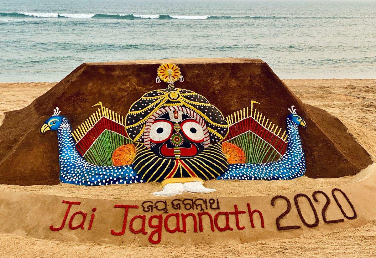 "Sudarsan Pattnaik on Twitter: ""May Lord Jagannath bless you all in 2020. My SandArt of Mahaprabhu Jagannatha Nagarjuna Besha at #Puri beach, #Odisha. #JaiJagannath… https://t.co/GxUc2oRQGc"""