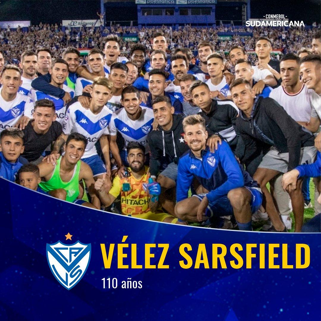 🇦🇷🎂 ¡Felices 1⃣1⃣0⃣ años, @Velez! El Fortín, que en 2⃣0⃣2⃣0⃣ vuelve a los torneos @CONMEBOL, está de aniversario.  🔜 En febrero, jugará la Primera Fase de la #Sudamericana ante @Aucas45.