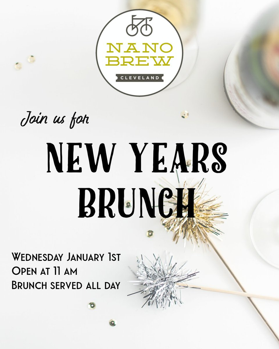 The best way to celebrate 2020!? With classic Nano Brew brunch, of course! Come celebrate the New Year with us. We'll be serving #brunch tomorrow,  ALL  DAY  LONG! #nanobrewcleveland pic.twitter.com/v4MFk0UoDl