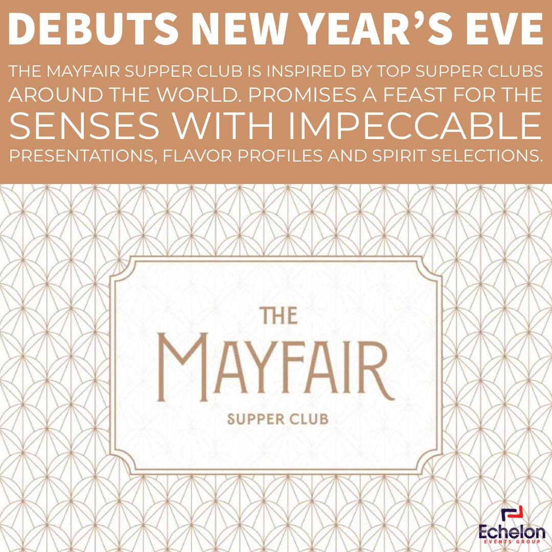 Debuts New Year's Eve. #TheMayfairSupperClub is inspired by top supper clubs around the world. The energy amplifies as dusk shifts to night, The Mayfair promises not only a feast for the senses with impeccable presentations. #eventplanner #eventplanning #vegas #lasvegas #bellagiopic.twitter.com/UrXO8xopgR
