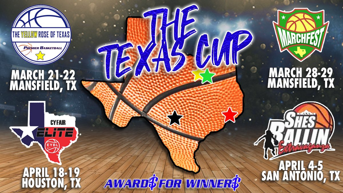 Spring 2️⃣0️⃣2️⃣0️⃣ in Texas will see something it hasn't had before:  🆕 ||  #TheTexasCup👑🏀🏆  || 🆕  • PBR Yellow Rose of Texas  • @dfwelite Marchfest  • @ShesBallin Extravaganza   • @CFEliteSports Invitational   Age Group Champions Crowned | Award$ for 🥇| Entry Incentives https://t.co/N763kxORR1