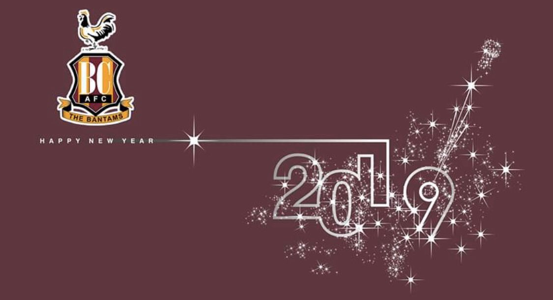 Happy New Year Bantams Let S Hope We Finish The Season In 2020 At Least One Place Higher Than We Ve Ended 2019 Football Addict