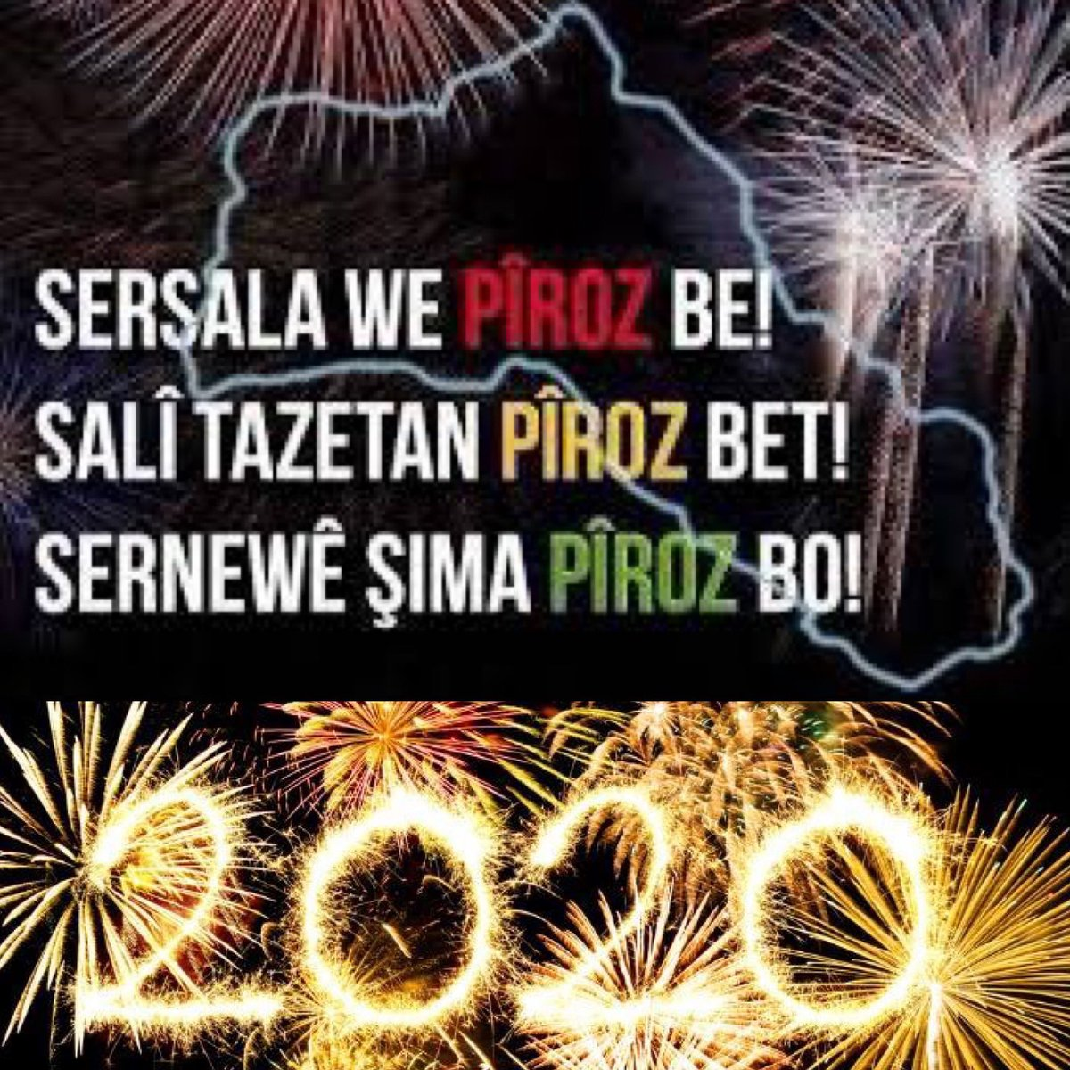 Sersala we pîroz be! Happy New Year! Bonne Année! Felice anno Nuovo! Gott nytt år! 🙏🏽❤️☀️💚🙌🏽🎉🔥😄❄️💥🌟 🙌🏽😘😘😘
