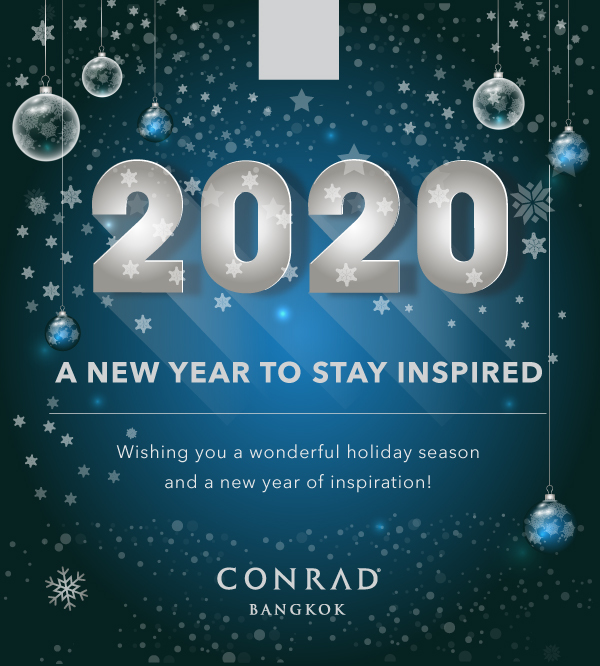 Happy New Year! We hope you have a magical festive season and wish you a happy and prosperous 2020! #ConradBangkok #ConradHotels #StayInspired https://t.co/AerGapQlY9