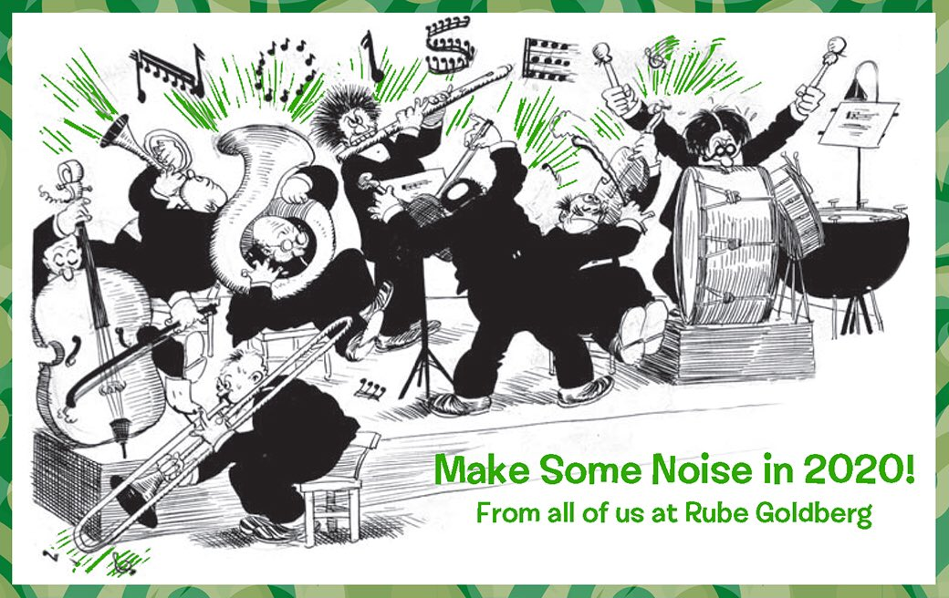 test Twitter Media - Hope you ring in the New Year with all the bells, whistles, winches, gears, pulleys, levers, gizmos and fireworks humanly possible! HAPPY 2020💥#rubegoldberg #happynewyear https://t.co/Rk99GDRKF8