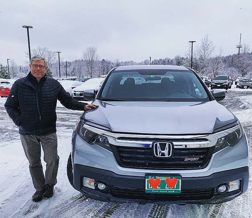 Thank you Wright for purchasing your new #hondaridgeline and working with Carol Saberin-Tener! Be sure to #askforcarol by giving her a call today at (802)391-3458!! #ilove802honda 🚙💯💓👍🛣