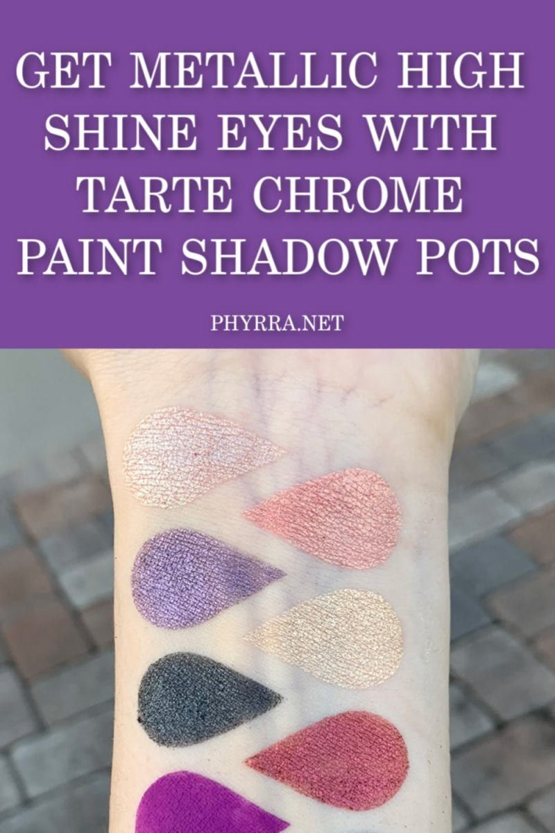 Do you want to be all shiny  & chrome? Check out the @tartecosmetics Chrome Paint Shadow Pots https://buff.ly/2MvTiRg #crueltyfree #makeupswatches pic.twitter.com/r1EoCN1Yag