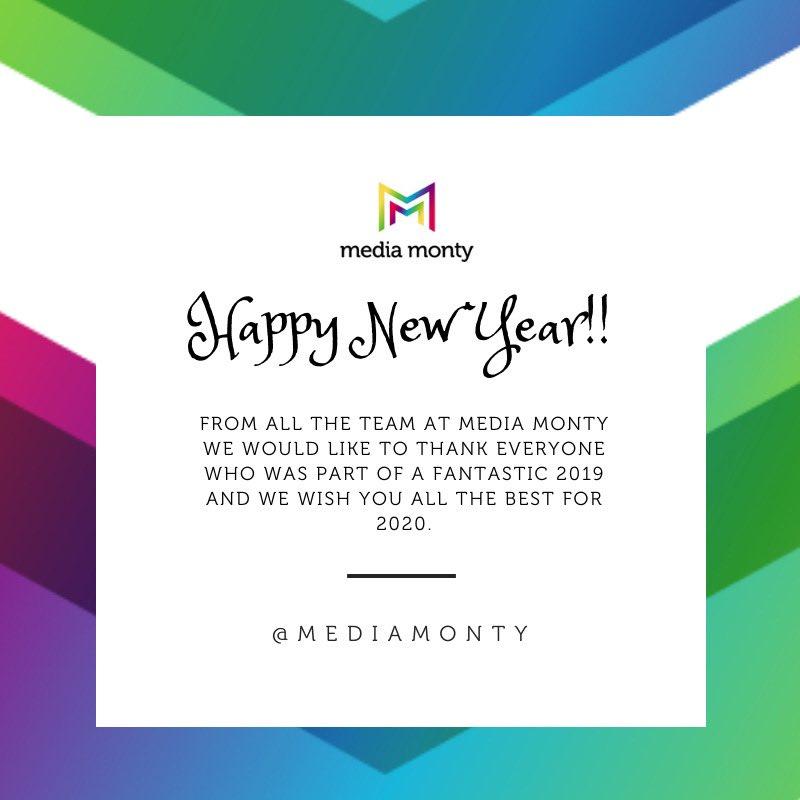 Happy New Year from all the @MediaMonty team!! #Hogmanay2019