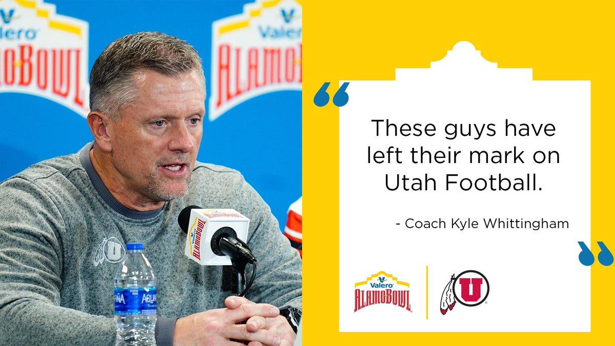 .@UtahCoachWhitt on @Utah_Football's senior class. #valeroalamobowl | #GoUtes